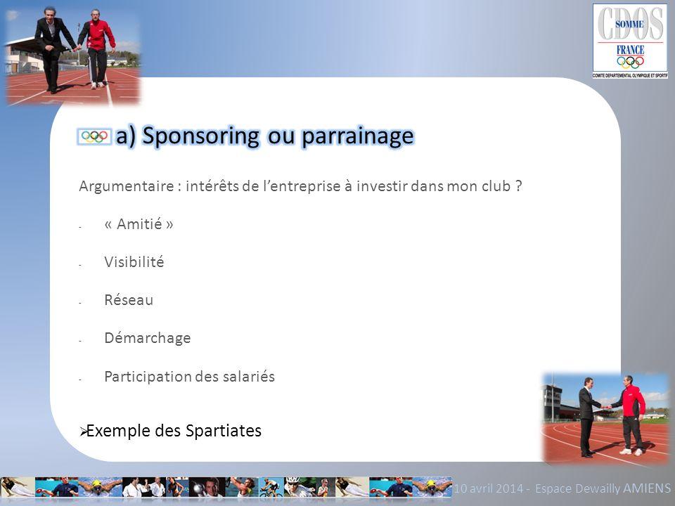 a) Sponsoring ou parrainage
