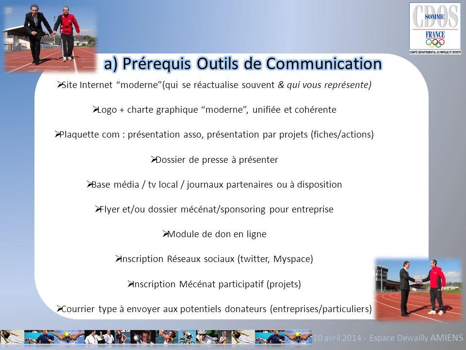 a) Prérequis Outils de Communication
