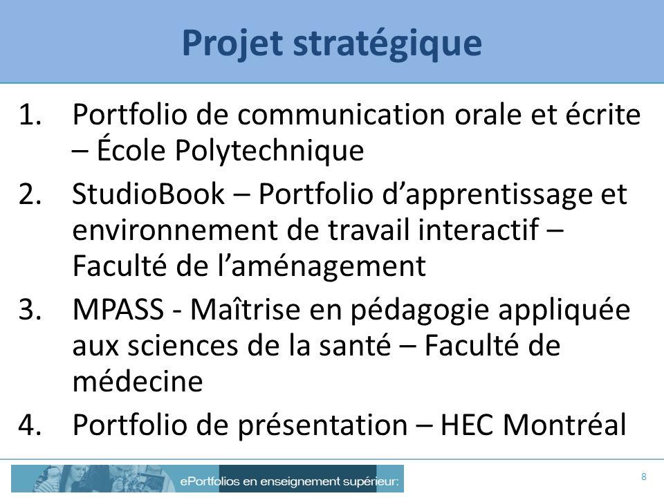 Projet stratégique Portfolio de communication orale et écrite – École Polytechnique.