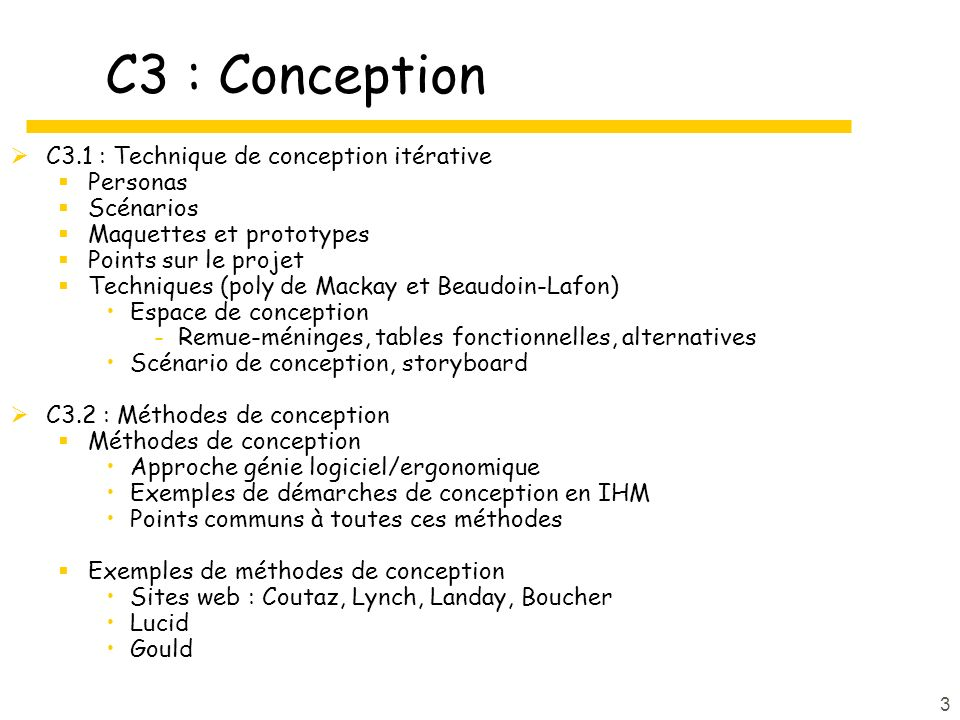 C3 : Conception C3.1 : Technique de conception itérative Personas