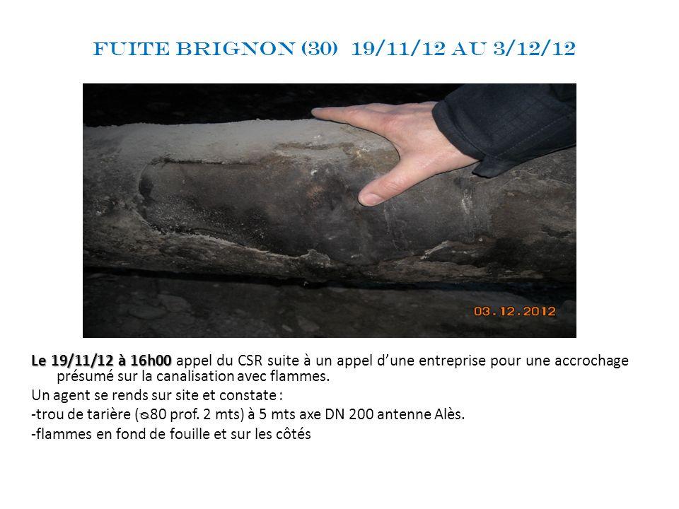 Fuite Brignon (30) 19/11/12 au 3/12/12