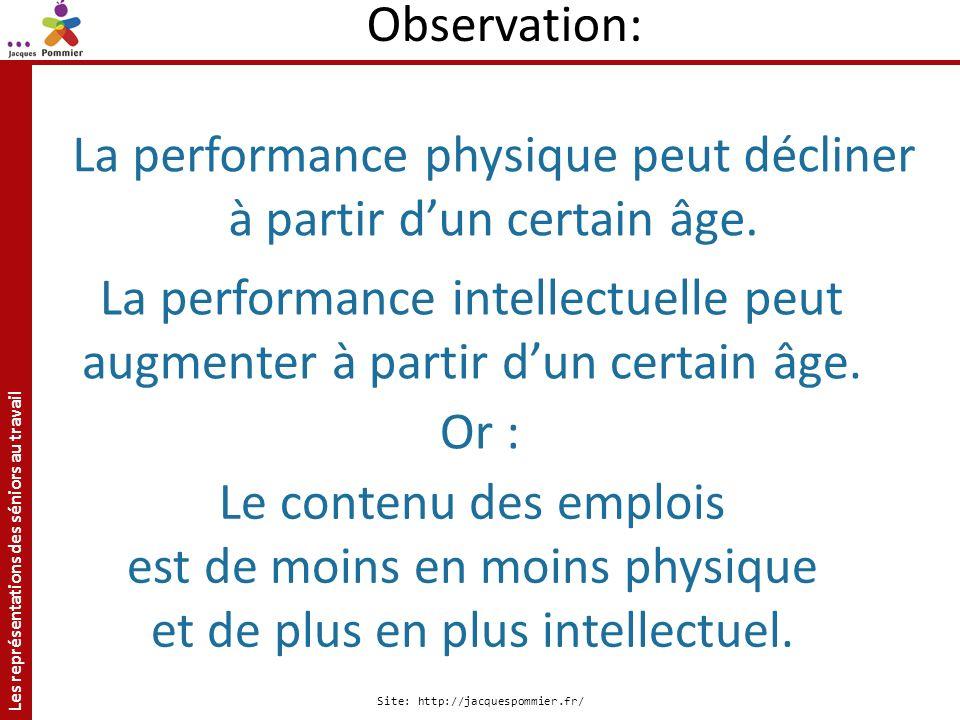 La performance physique peut décliner à partir d'un certain âge.