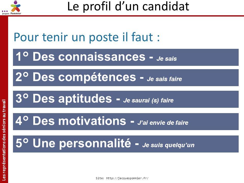 Le profil d'un candidat