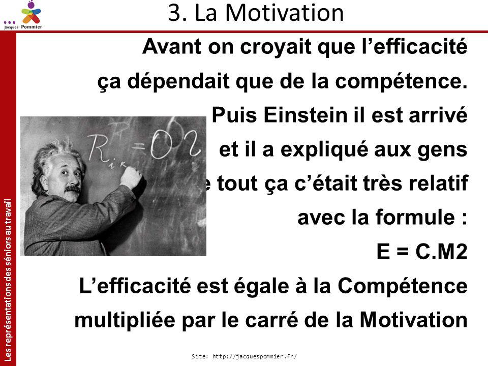 3. La Motivation Avant on croyait que l'efficacité