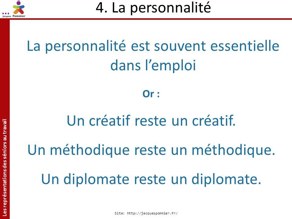 La personnalité est souvent essentielle dans l'emploi