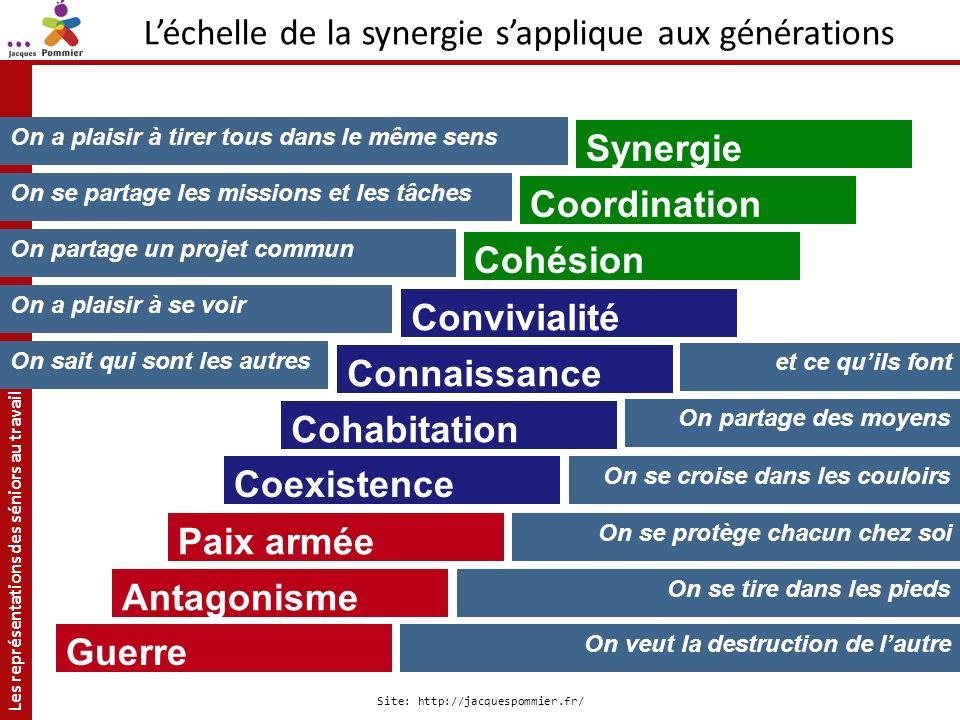 L'échelle de la synergie s'applique aux générations
