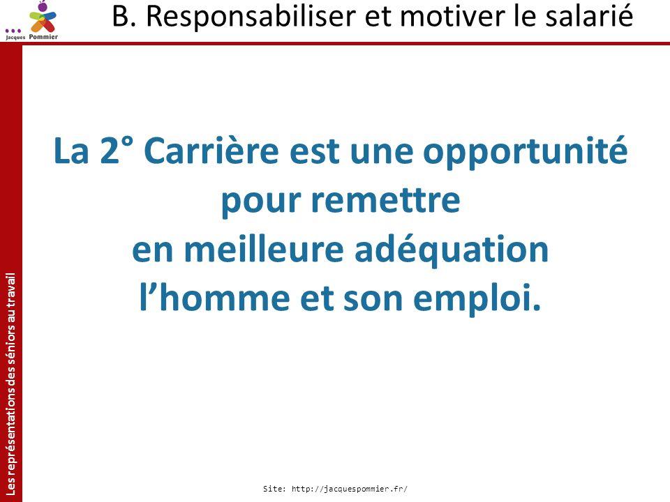 B. Responsabiliser et motiver le salarié