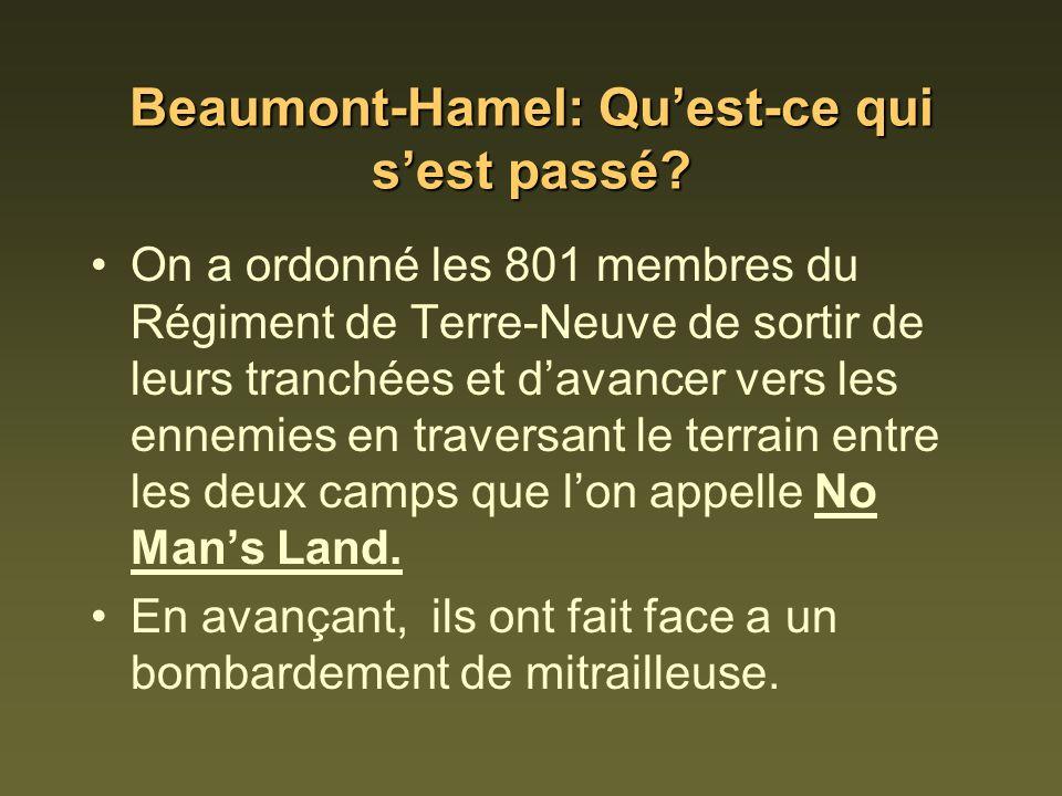 Beaumont-Hamel: Qu'est-ce qui s'est passé