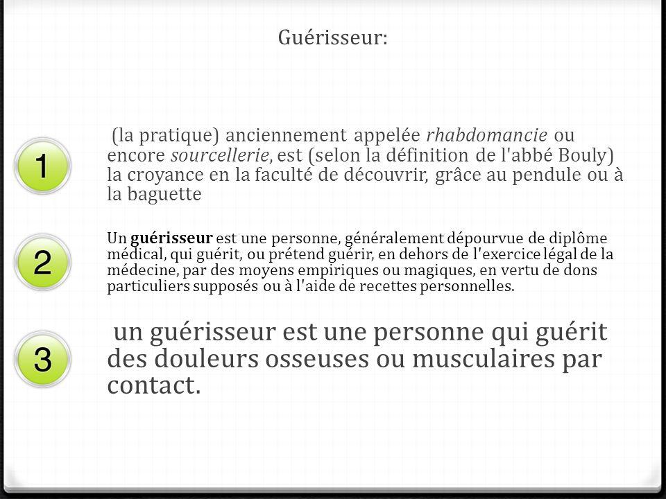 Guérisseur: