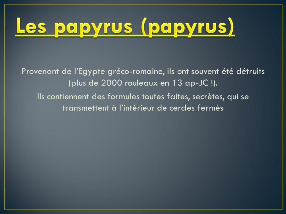 Les papyrus (papyrus)