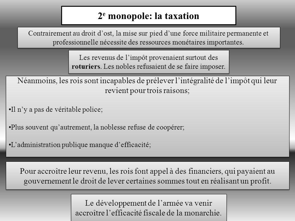 2e monopole: la taxation