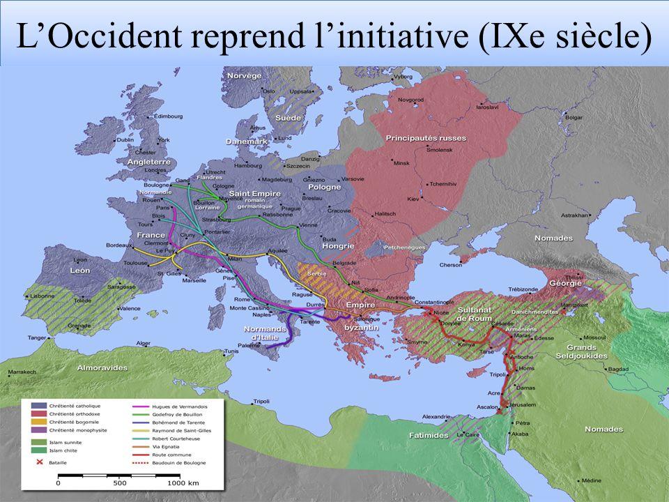 L'Occident reprend l'initiative (IXe siècle)