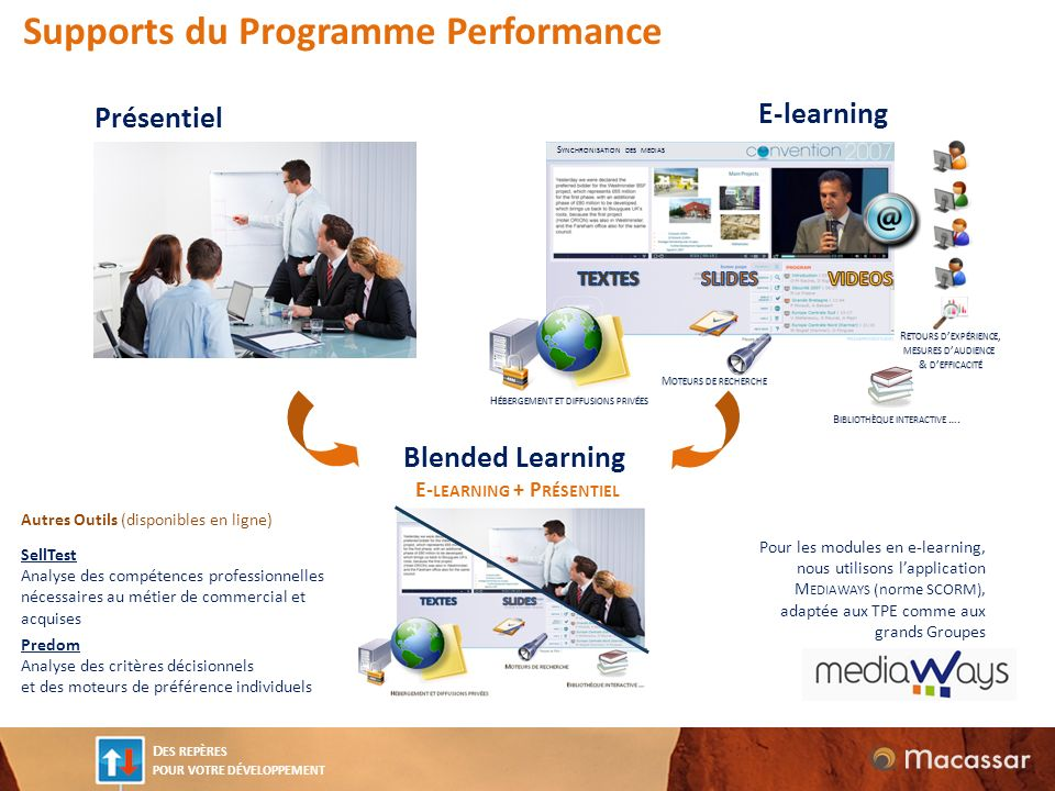 E-learning + Présentiel