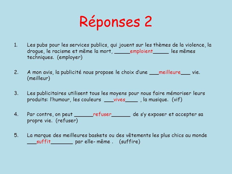 Réponses 2
