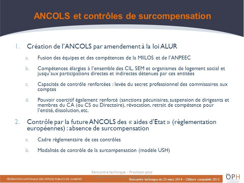 ANCOLS et contrôles de surcompensation