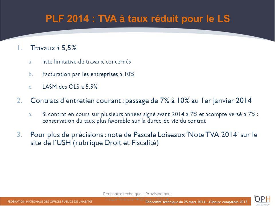 PLF 2014 : TVA à taux réduit pour le LS