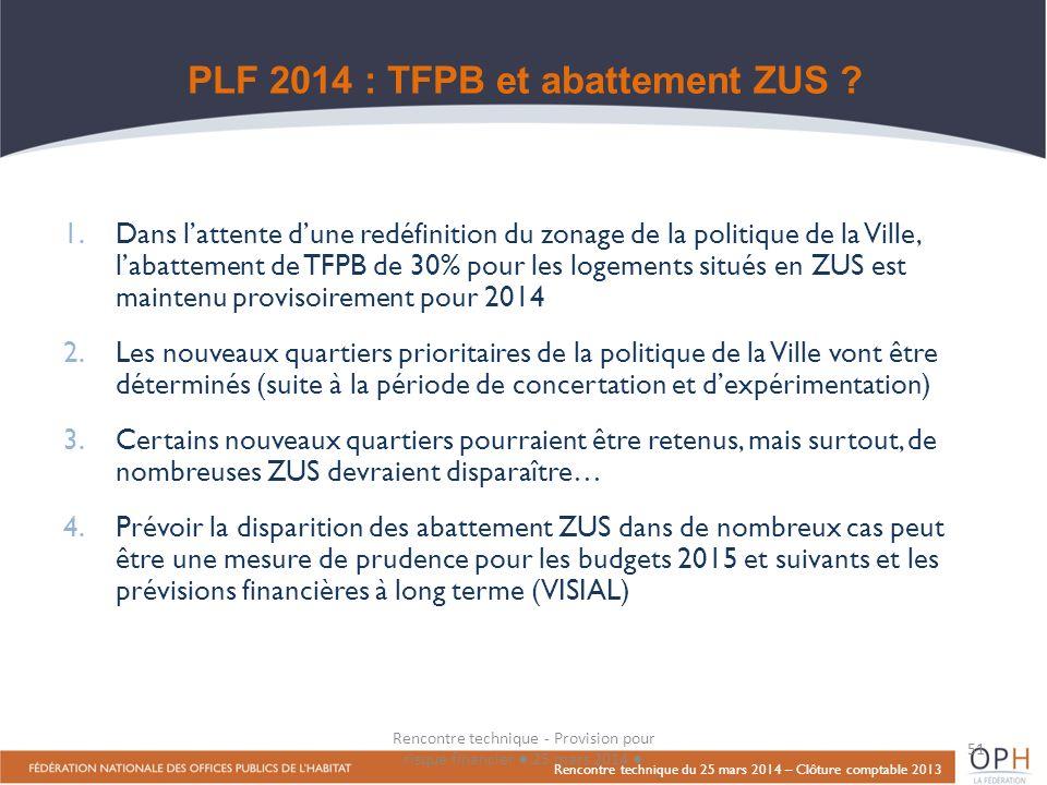 PLF 2014 : TFPB et abattement ZUS