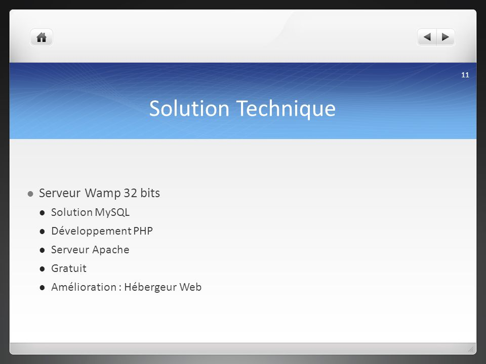 Solution Technique Serveur Wamp 32 bits Solution MySQL