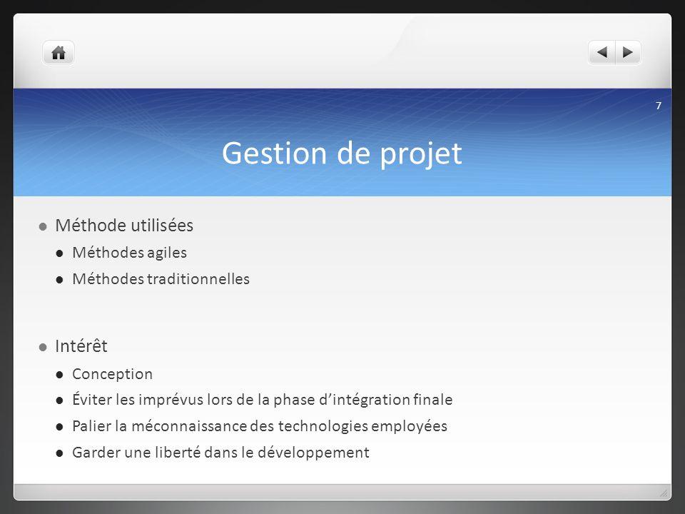 Gestion de projet Méthode utilisées Intérêt Méthodes agiles