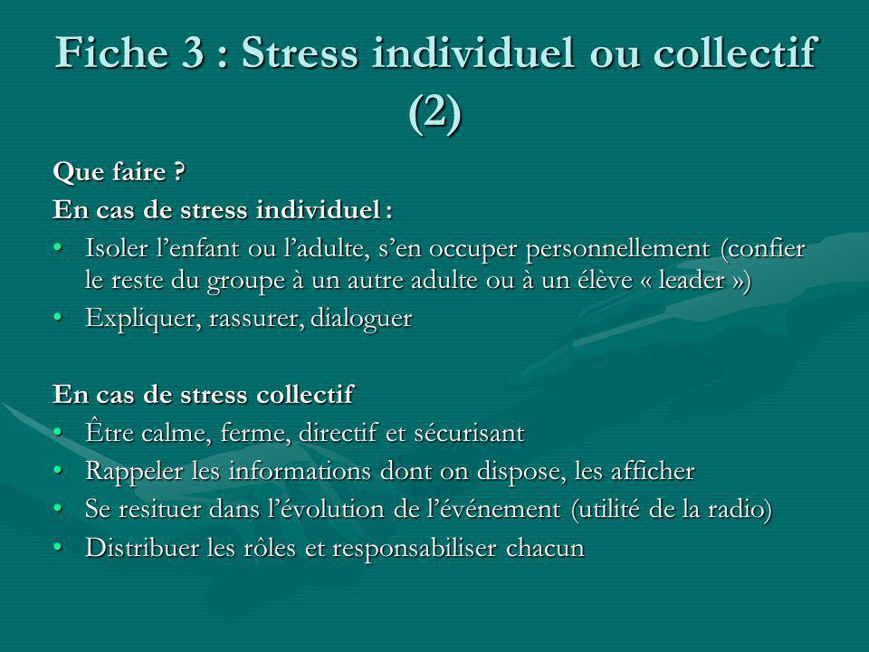 Fiche 3 : Stress individuel ou collectif (2)