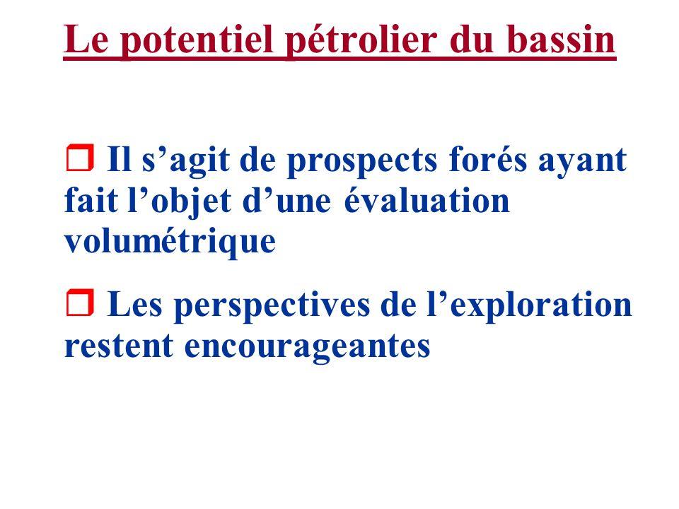 Le potentiel pétrolier du bassin