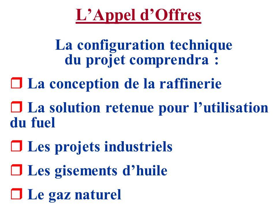 La configuration technique du projet comprendra :