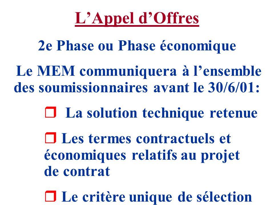 2e Phase ou Phase économique