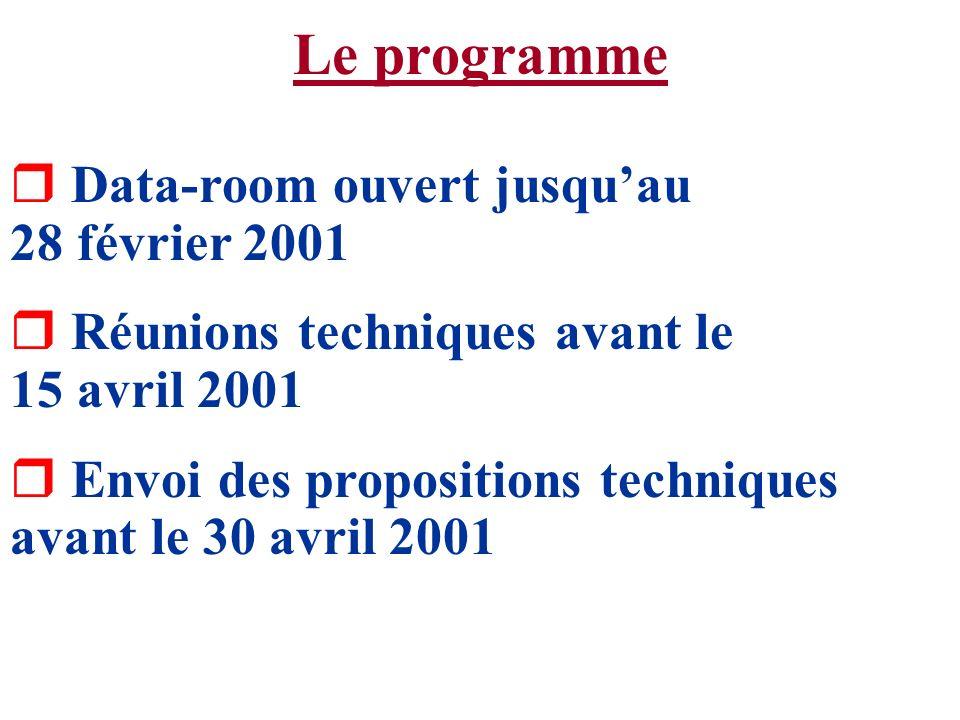 Le programme Data-room ouvert jusqu'au 28 février 2001