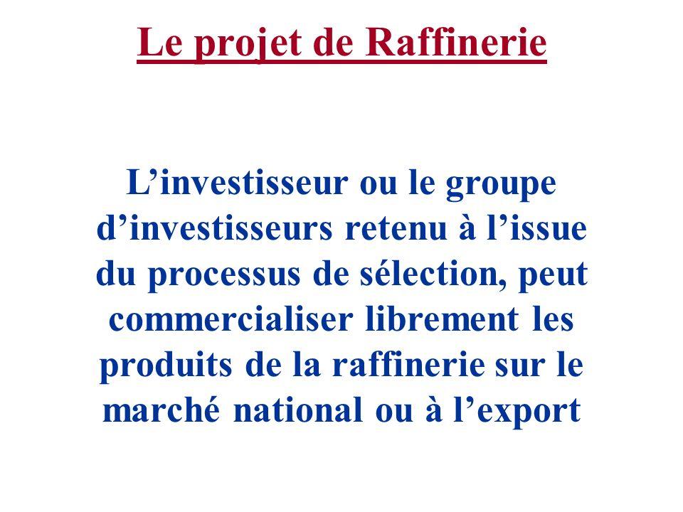Le projet de Raffinerie