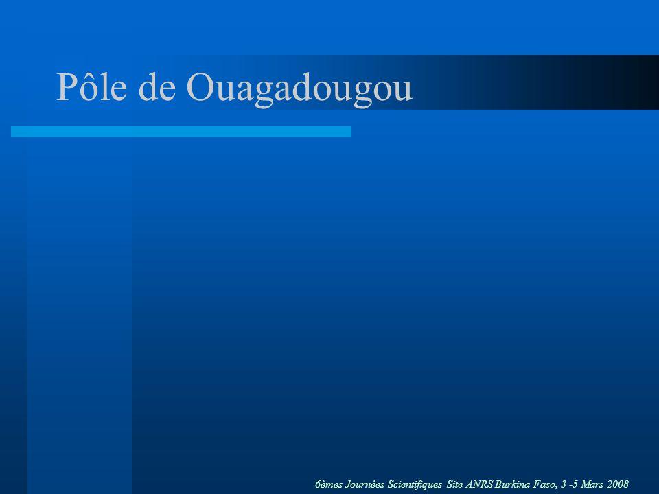 Pôle de Ouagadougou Je vais maintenant vous présenter ce que nous proposons pour le pôle Yerelon de Ouagadougou.