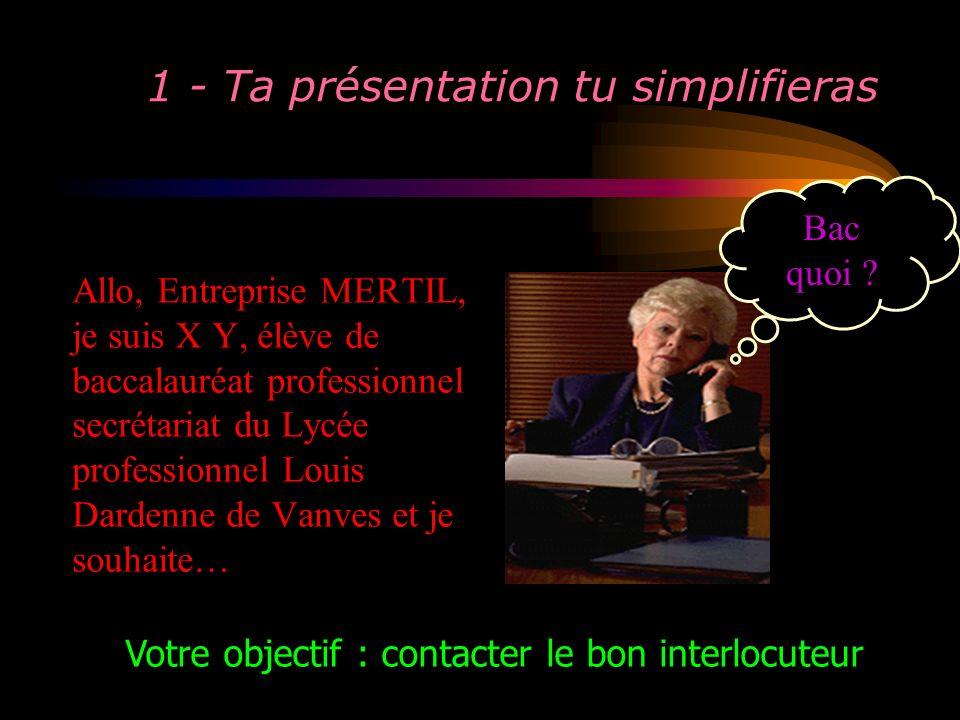 1 - Ta présentation tu simplifieras