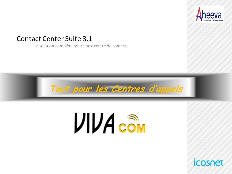 Contact Center Suite 3.1 La solution complète pour votre centre de contact