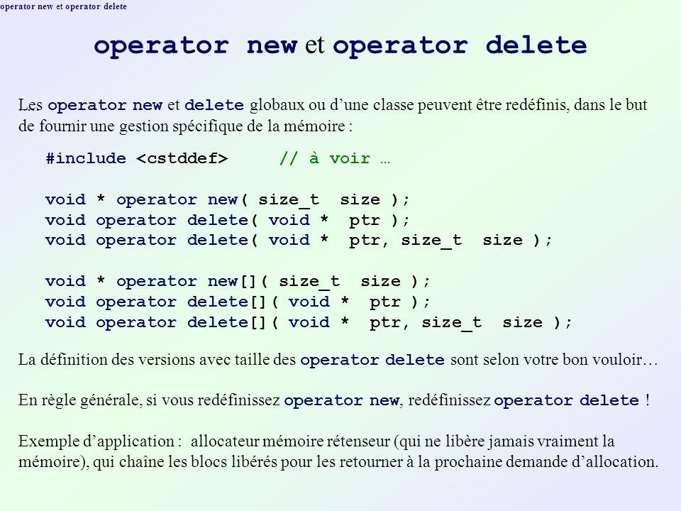 operator new et operator delete