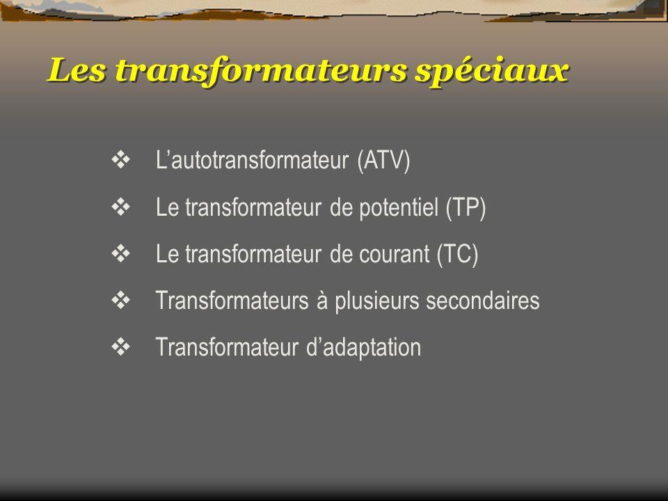 Les transformateurs spéciaux