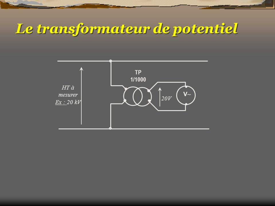 Le transformateur de potentiel