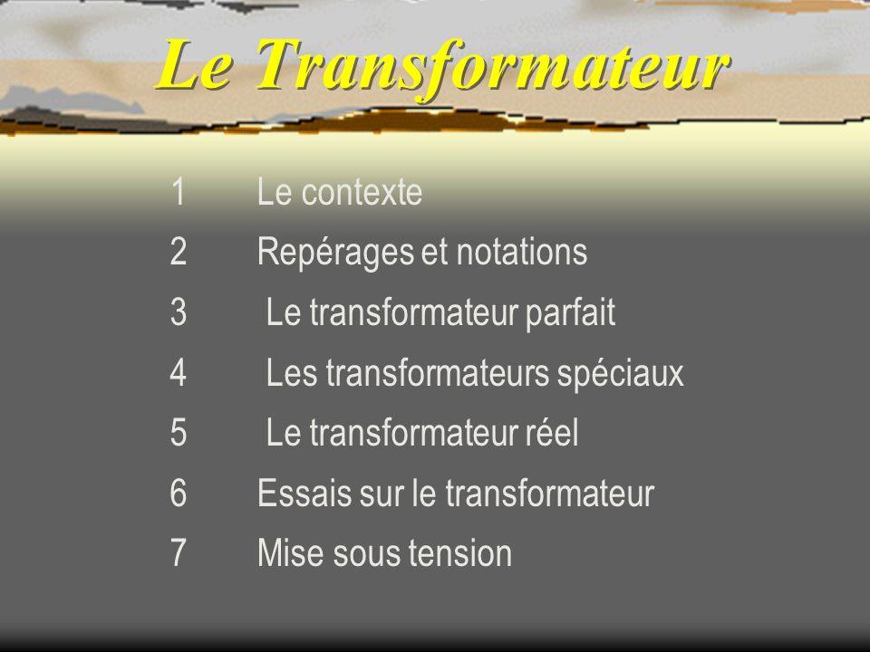 Le Transformateur 1 Le contexte 2 Repérages et notations