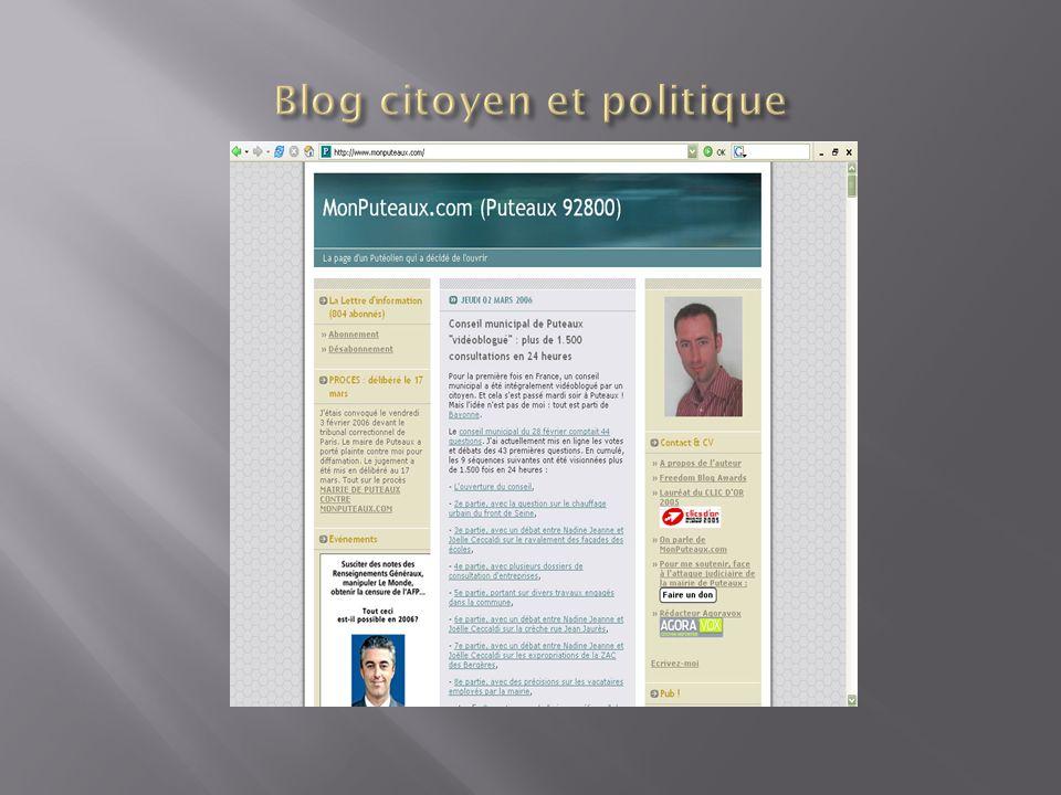 Blog citoyen et politique