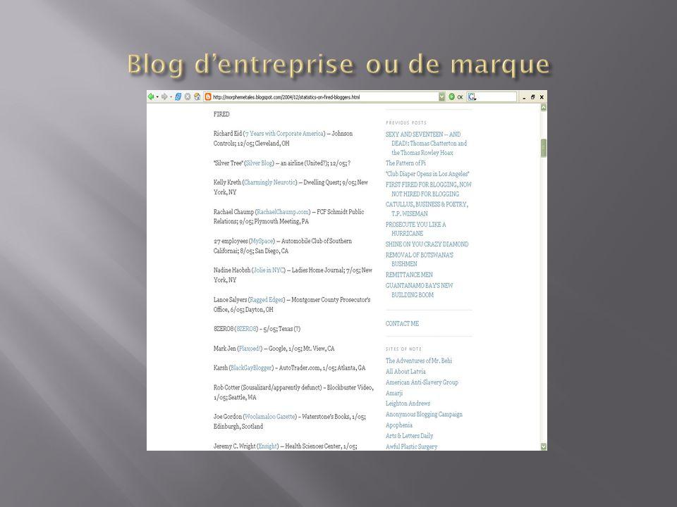 Blog d'entreprise ou de marque