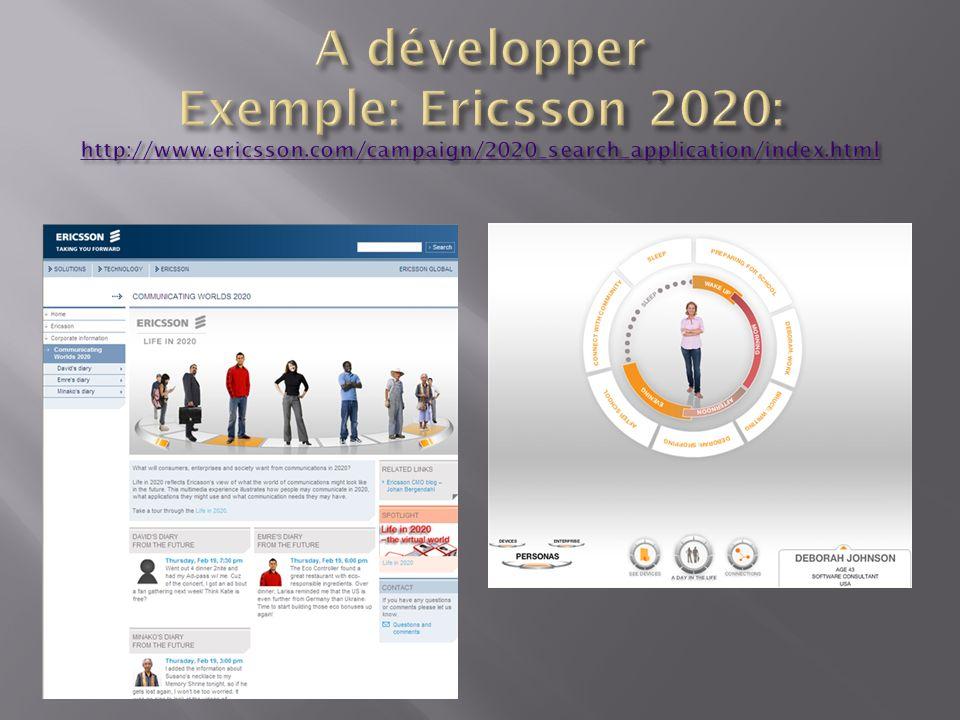 A développer Exemple: Ericsson 2020: http://www. ericsson