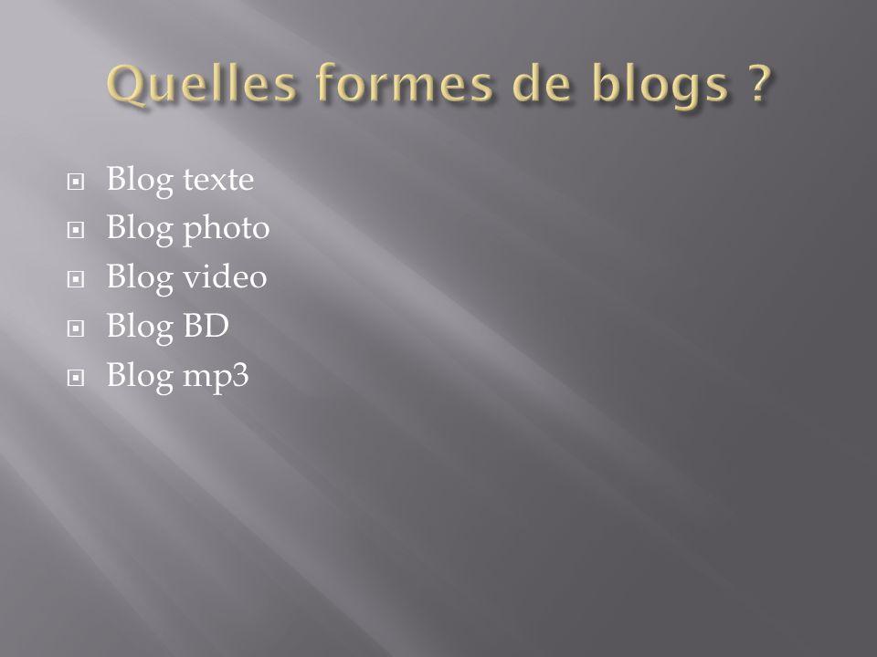 Quelles formes de blogs