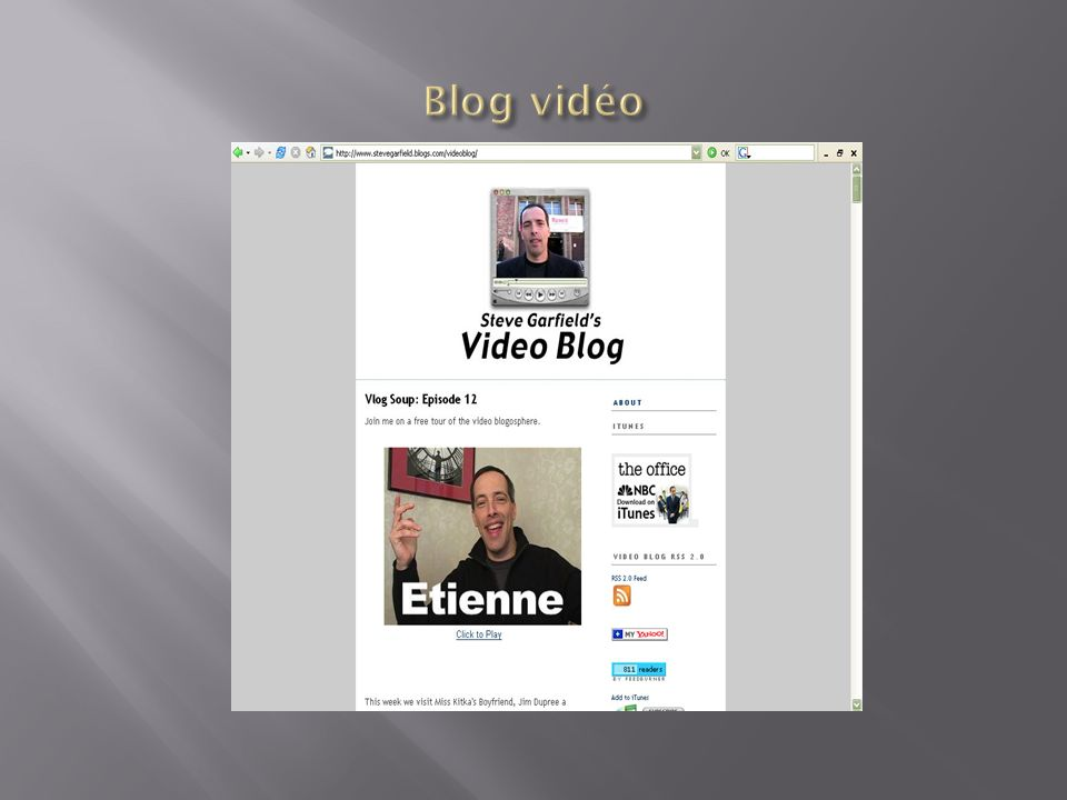 Blog vidéo