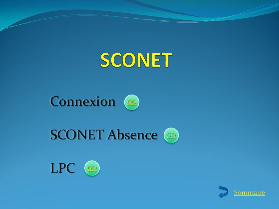 SCONET Connexion SCONET Absence LPC
