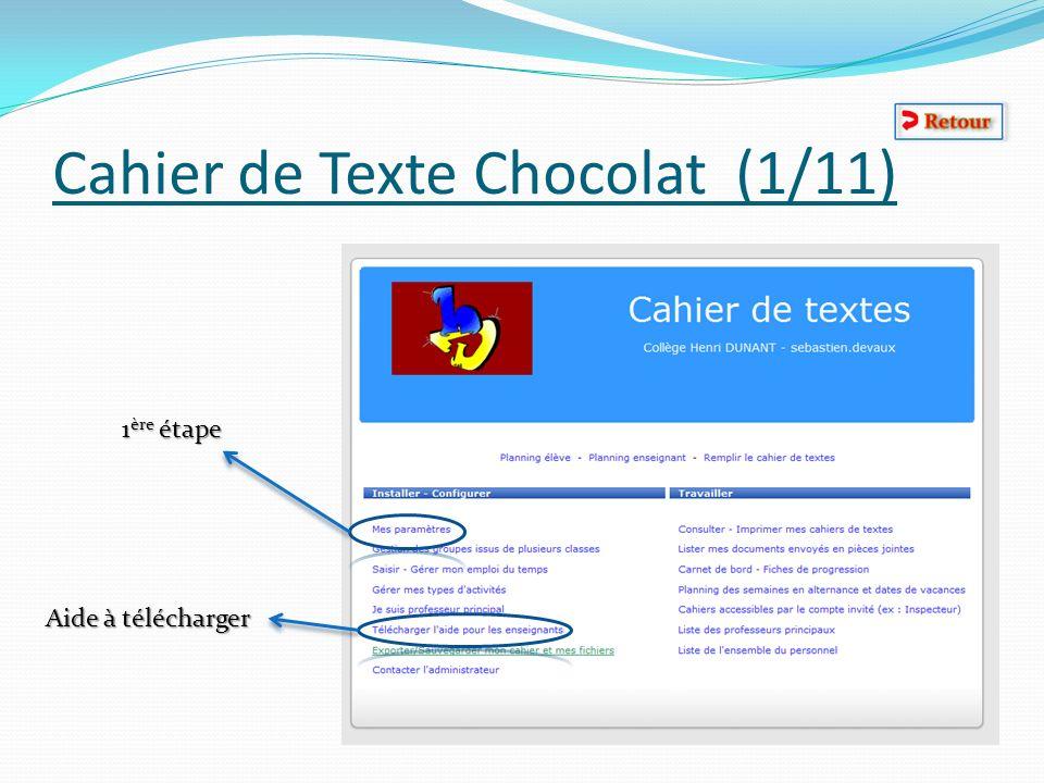 Cahier de Texte Chocolat (1/11)