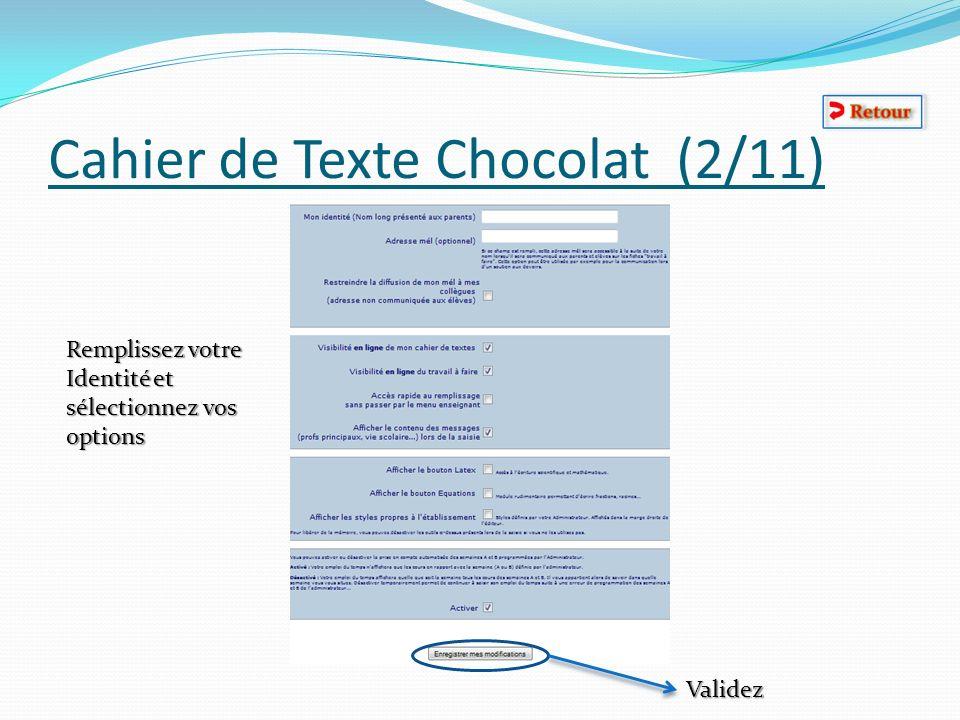 Cahier de Texte Chocolat (2/11)