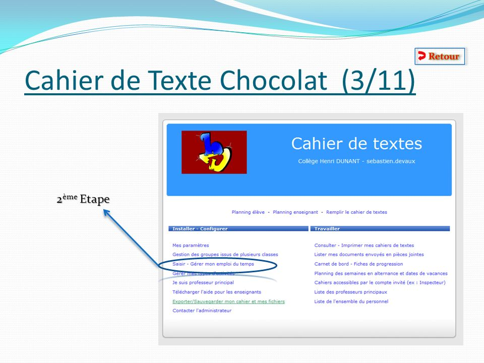 Cahier de Texte Chocolat (3/11)