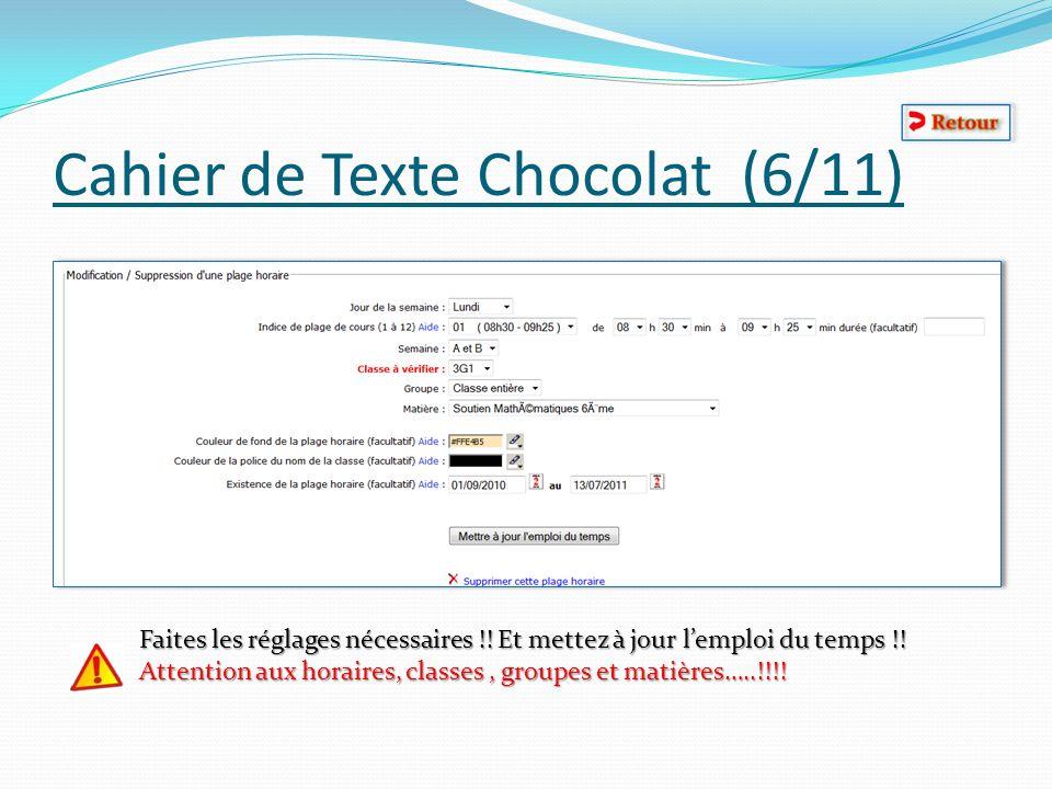Cahier de Texte Chocolat (6/11)