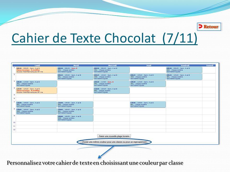 Cahier de Texte Chocolat (7/11)