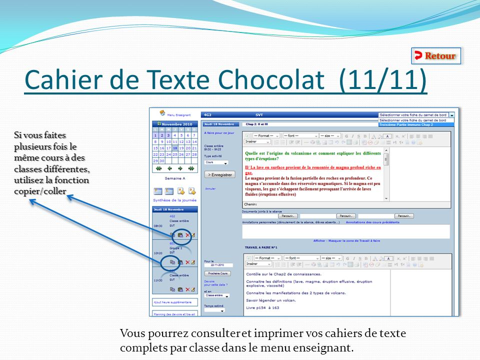 Cahier de Texte Chocolat (11/11)