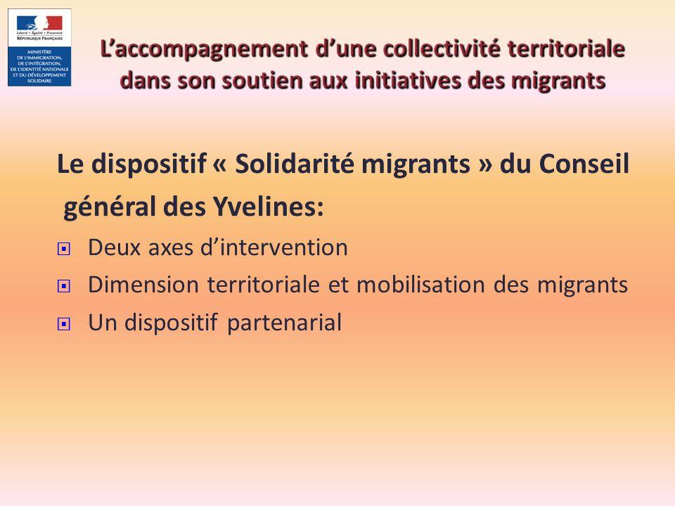 Le dispositif « Solidarité migrants » du Conseil général des Yvelines: