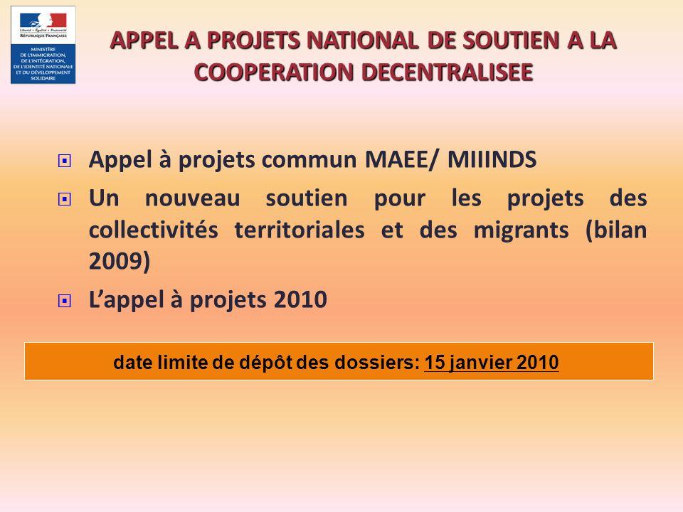 APPEL A PROJETS NATIONAL DE SOUTIEN A LA COOPERATION DECENTRALISEE